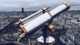 telescope over city